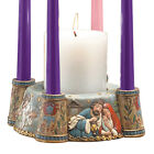 Resin Folk Nativity Scene Advent Wreath