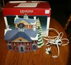 Vintage Lemax Hearthside Village Lighted Porcelain Stratford School With Box