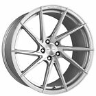 4 20 Staggered Stance Wheels SF01 Brush Face Silver Rims B6