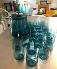 Danish Modern Style Punch Bowl Jar with Lid and 23 Matching Cups