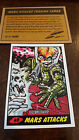 2014 TOPPS IDW LIMITED MARS ATTACKS REPRINT SKETCH TRADING CARD JEFF ZAPATA # 49