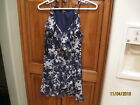 Lulus Women's Cool Sleeveless Blue with white Floral  Dress  Size S NWT