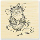 Sitting Pretty HOUSE MOUSE Wood Mounted Stamp STAMPENDOUS New HMD01