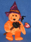 TY PRUNELLA the HALLOWEEN BEAR BEANIE BABY - MINT TAGS - PLEASE READ