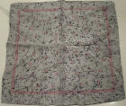 """Vintage All 100% Silk Soie Unbranded Pink Pocket Square 12"""" - Made In Italy"""