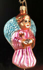 """Radko On Wings of Hope glass ornament charity aids angel Breast cancer 5 1/2"""""""