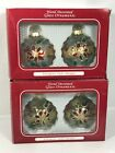 Hand Decorated Glass Ornaments European Style Design 4 Ornaments