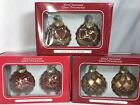 Hand Decorated Glass Ornaments European Style Design 6 Ornaments