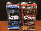 Matchbox Police  Fire Heroes 3 Pack Lot Of 2 Dela1787