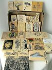 34 Wood Mount Rubber Stamps Scrapbook Crafting XMAS EASTER WHIMSICALNATURE NEW