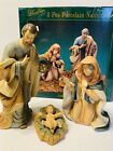 Vintage Heritage 3 Piece Hand Painted Porcelain Nativity Set Original Box