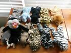 TY Beanie Baby Lot of 11 Wild Animals Mooch Velvet Peanut Roary