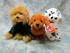 Ty, Lot of 3, Collectible Dogs Plush Beanie Babies Yapper, Rescue and Frank