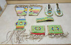 FAIR CONDITION HAND CRAFTED 8 PIECE CUT BEADED NATIVE AMERICAN INDIAN DANCE SET