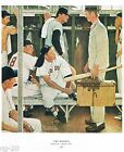 Norman Rockwell baseball print THE ROOKIE World Series Spring Training '57 11x15