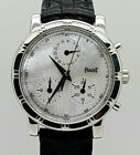 18K White Gold Piaget Chronograph Quartz Ladies Watch Ref 14013 MOP Dial