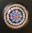 Signed Antique Baccarat Flower Millefiori Paperweight C Frank Kireker