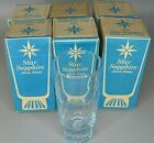 Lot of 6 Vintage Proctor And Gamble Blue Star Sapphire Juice Glasses In Orig Box