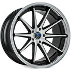 4 22 Rohana Wheels RC10 Machined Black Rims B2