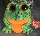 Ty Beanie Boos Speckles the Frog With Tags Pink Big Eyes green yellow