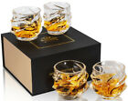 Whiskey Glasses Crystal 11 Oz Whisky Cocktail Drinking Tumbler Cups Set of 4