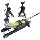 2 Ton Low Profile Floor Jack Stand Combo Car Truck Lift Shop Hydraulic Trolley