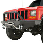 Paramount Front Bumper with Winch Plate Fit 84 01 Jeep Cherokee XJ
