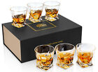 KANARS Whiskey Glass Crystal Whisky Scotch Bourbon Tumbler Cups 10 Oz Set of 6