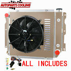 3 Row Radiator+Shroud Fan For 1987 2006 Jeep Wrangler YJ TJ Chevy V8 USA