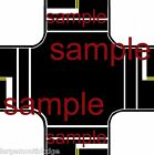 HO SCALE LAYOUT EASY PEEL  STICK ROADWAY DECALS INTERSECTION TOUGH VINYL