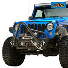 EAG Stubby Front Stinger Bumper with Winch Mount Plate Fit for 07 18 Jeep JK