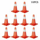 10pcs Traffic Cones 18 Pvc Fluorescent Reflective Road Safety Parking Cones Us