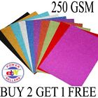 50 X SHINY GLITTER A4 SIZE CARDS 250 GSM THICK SELF ADHESIVE SHEET BUY 2 GET 1