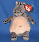 TY GLORIA the HIPPO BEANIE BABY (MADAGASCAR MOVIE) - MINT with MINT TAGS