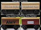 Thomas & Friends 2 Unpainted Wooden Railway Cars Fisher-Price Orig. Package