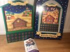 Wooden Manger Scene Nativity Christ The Savior Is Born Advent Calendar Christmas
