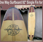 surfboard 92 Long Board One Way Brand  Fin Autographed San Diego Classic