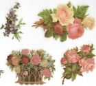 Elegant Flower Stickers 3 Sheets All Different
