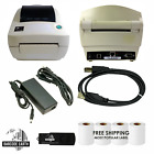 Zebra LP2844 Printer Bundle With Four Rolls of Labels Power USB and More