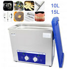 2l 6l Stainless Steel Heated Ultrasonic Cleaner Jewelry Watch Washing Machine