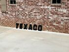 1960's TEXACO Gas Station Letters Sign Advertising Oil  Sumrall Mississippi