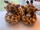 TY Giraffe Slippers Girls Size XL Extra Large (3-4) Beanie Boos