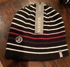 Igloos Womens Striped Reversible Winter Beanie Hat One Size NWT Black Pink
