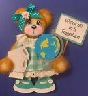 BABY Girl Tear Bear Premade In It Together Toilet Paper World Globe PAGES CARD