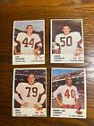 1961 FLEER FOOTBALL LOT OF 18 DIFF. CARDS EXMT!! ALL CARDS PICTURED!!!!!!!