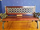 Retired Boyds Bears Melinda's Garden Bench Cast Iron & Wood With original Tag