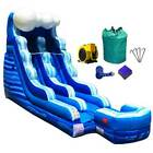Commercial Inflatable Water Slide With Blower 27 Wet Dry Single Lane Tidal Wave
