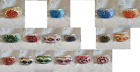 Moroccan Turkish style glass mosaic candle holders 6 piece set