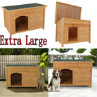 Dog House Pet Wood Outdoor Shelter Extra Large Weather Home Resistant Log Cabin