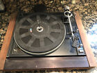 Vintage BIC 980 Belt Drive Record Turntable For Parts Or Repair Appears Complete
